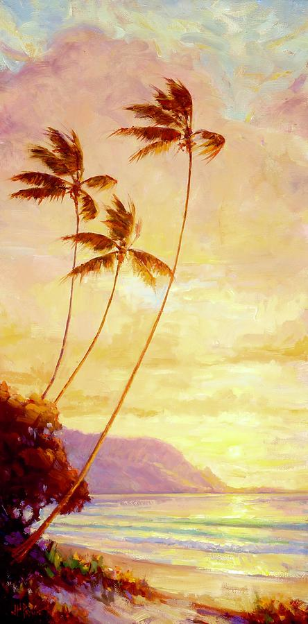 Landscape Painting - Kauai Sunset by Jenifer Prince