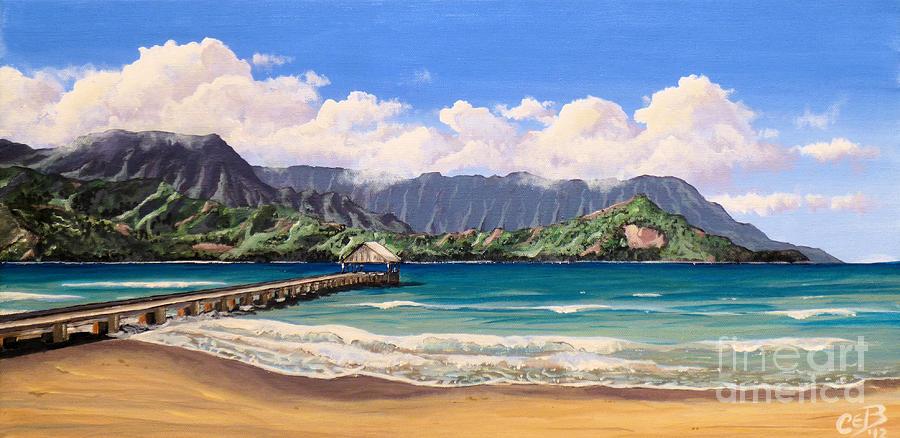 Kauai Painting - Kauai Surf Paradise by Chad Berglund