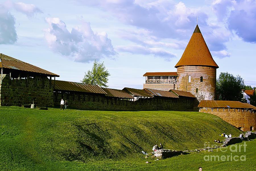 Kaunas Pyrography - Kaunas Castle by Arvydas Kantautas
