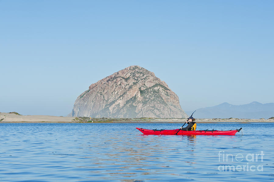 Kayaker In Morro Bay Photograph