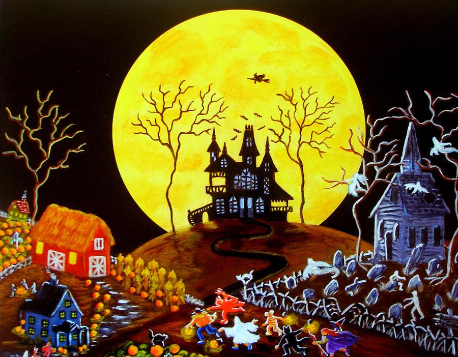Halloween Painting - Keep Running by Christine Altmann
