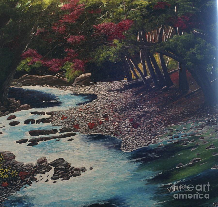 Trees Painting - Kentucky   Creek by Vickie Brooks