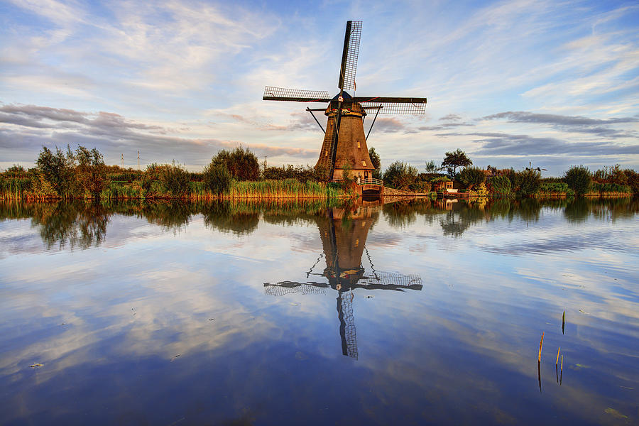Zuid-holland Photograph - Kinderdijk by Chad Dutson
