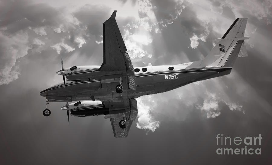 King Air Twin Engine Turbo Prop Photograph