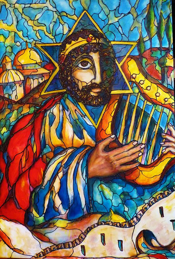 King David Painting by Rae Chichilnitsky