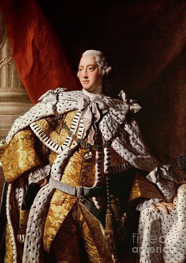 King Painting - King George IIi by Allan Ramsay