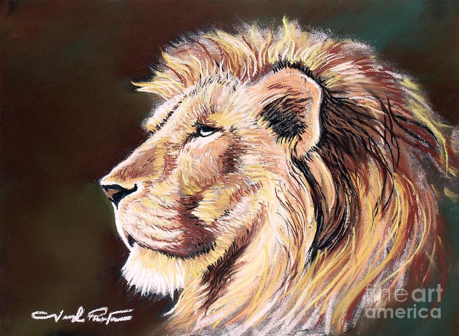 Lion Pastel - King Of Wonderland by Joseph Palotas