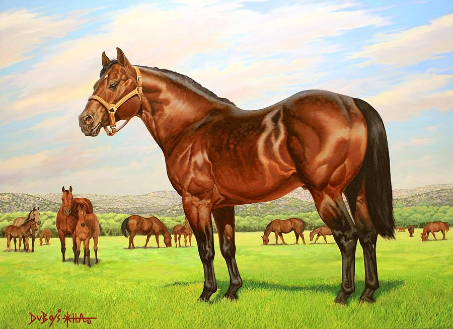 Quarter Horse Painting - King P-234 No.two by Howard Dubois