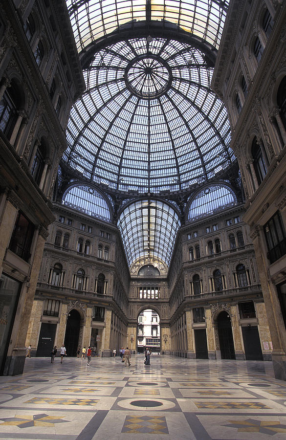 King Umberto I Shopping Arcade Photograph by Richard Nowitz