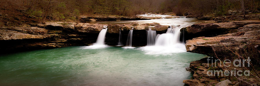 Waterfall Photograph - Kings River Panorama by Tamyra Ayles