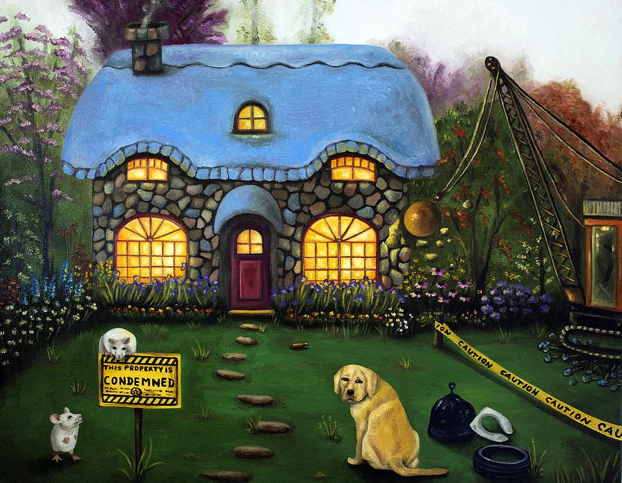Dog Painting - Kinkades Worst Nightmare 2  by Leah Saulnier The Painting Maniac