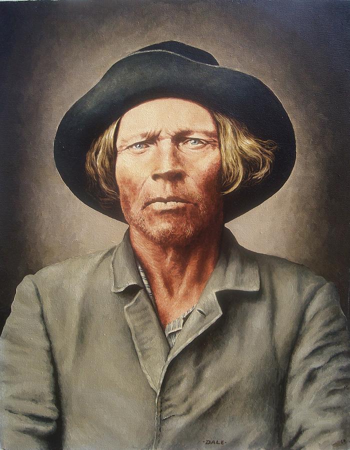 Portrait Painting - Kiowa Dutch by Dale VanSickle