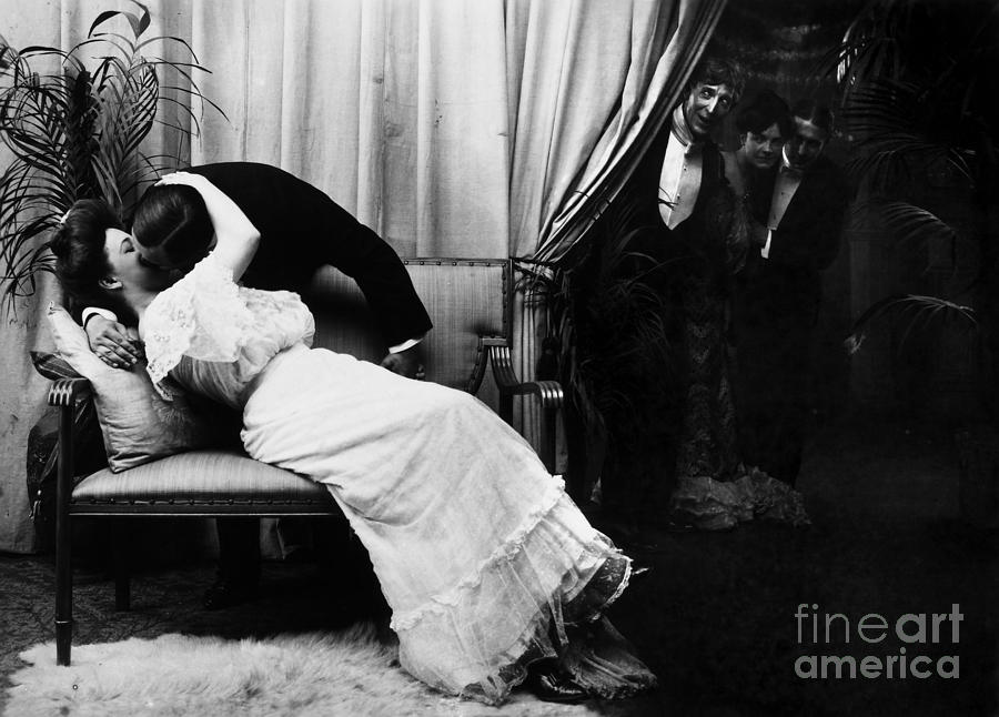 Kissing, C1900 Photograph