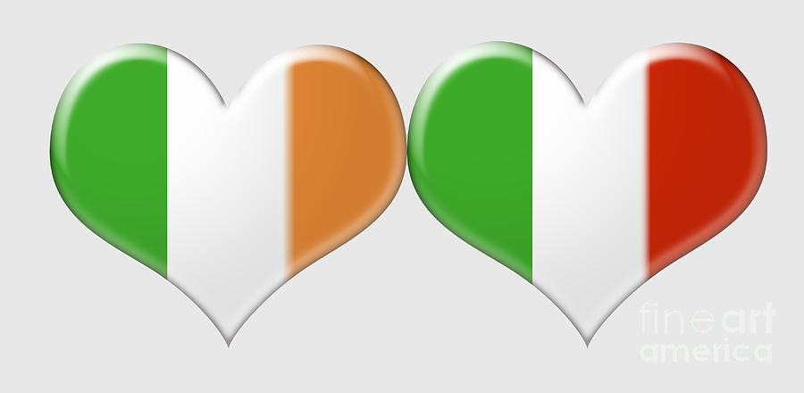 Kissing Irish And Italian Heart Flags is a jewelry by Ckeen Art which ...