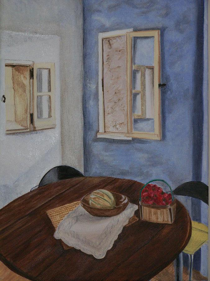 Interior Scene Painting - Kitchen In Les Baux by Cynthia Ablicki