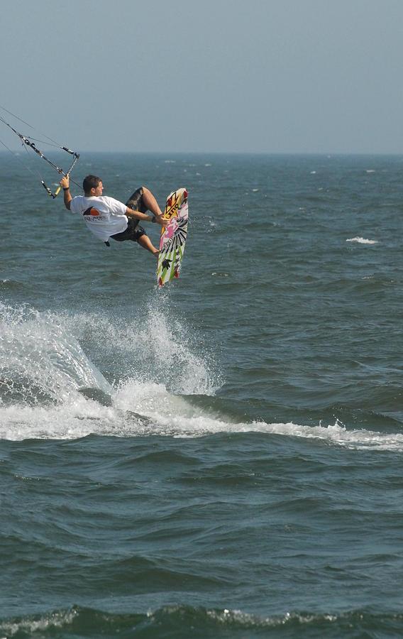 Kite Surfing Photograph - Kite Surfing 8 by Joyce StJames