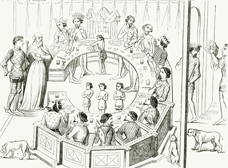 Knights Of The Round Table Is A Drawing By Vintage Design Pics Which