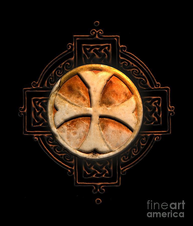 Knights Templar Symbol Re-imagined By Pierre Blanchard Digital Art