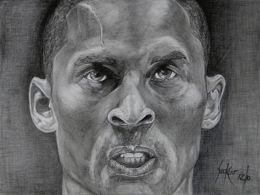 Kobe Bryant Drawing by Stephen Sookoo