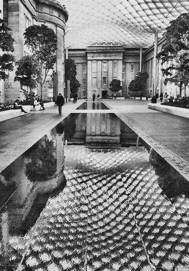Court Photograph - Kogod Courtyard I by Steven Ainsworth