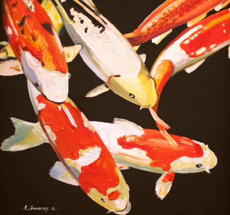 Koi fish painting by robert sweeney for American koi fish