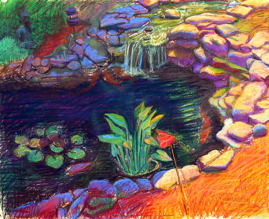 Image gallery koi pond drawing for Koi fish pond drawing