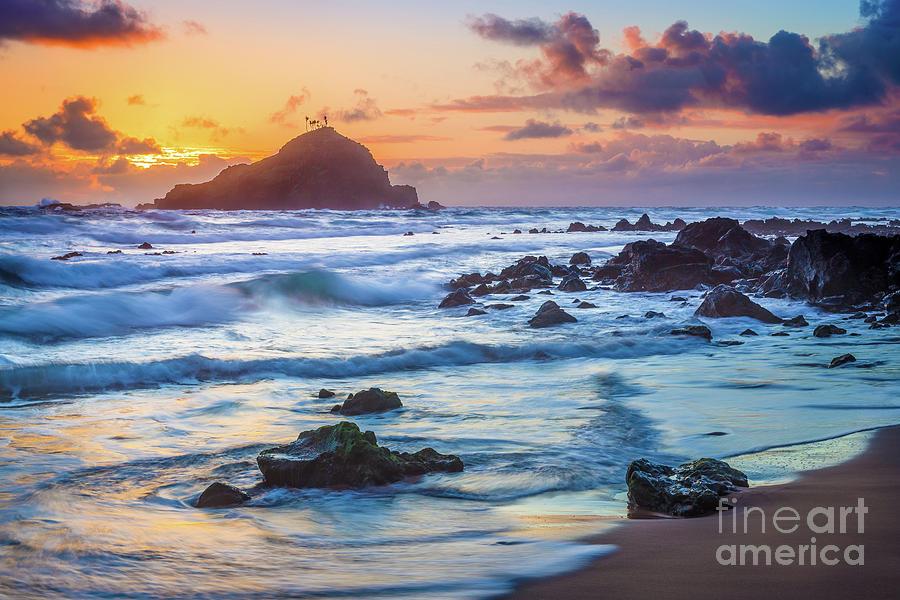 America Photograph - Koki Beach Harmony by Inge Johnsson