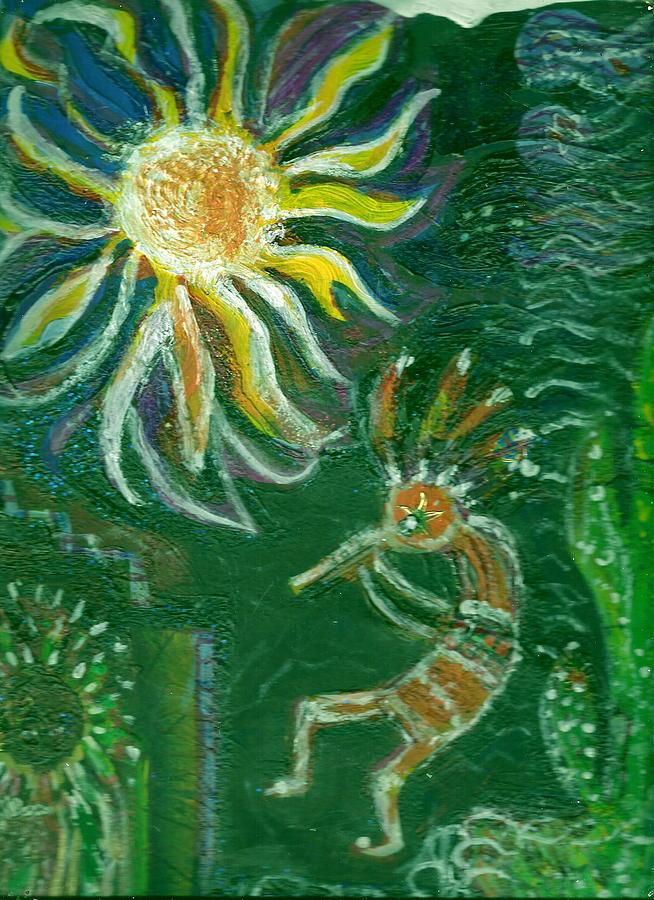 Green Painting - Koko Gone Green by Anne-Elizabeth Whiteway