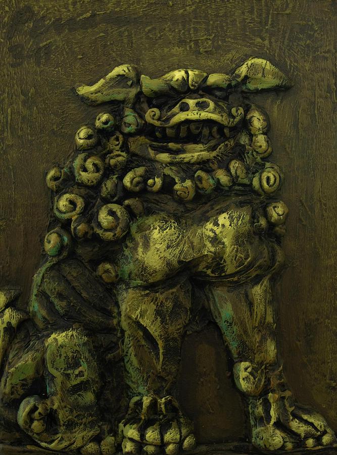 Painting Painting - Komainu Guardian by Erik Pearson
