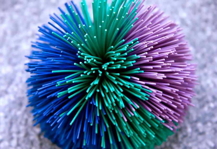 Squishy Koosh Ball : Koosh Ball Abstract Photograph by Steve Ohlsen