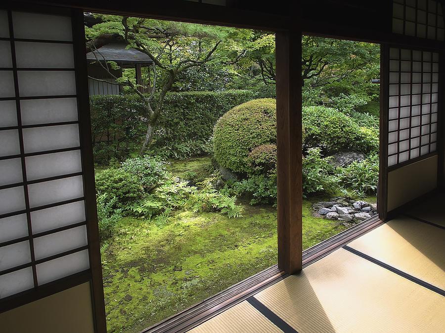 Koto-in Zen Temple Side Garden - Kyoto Japan Photograph