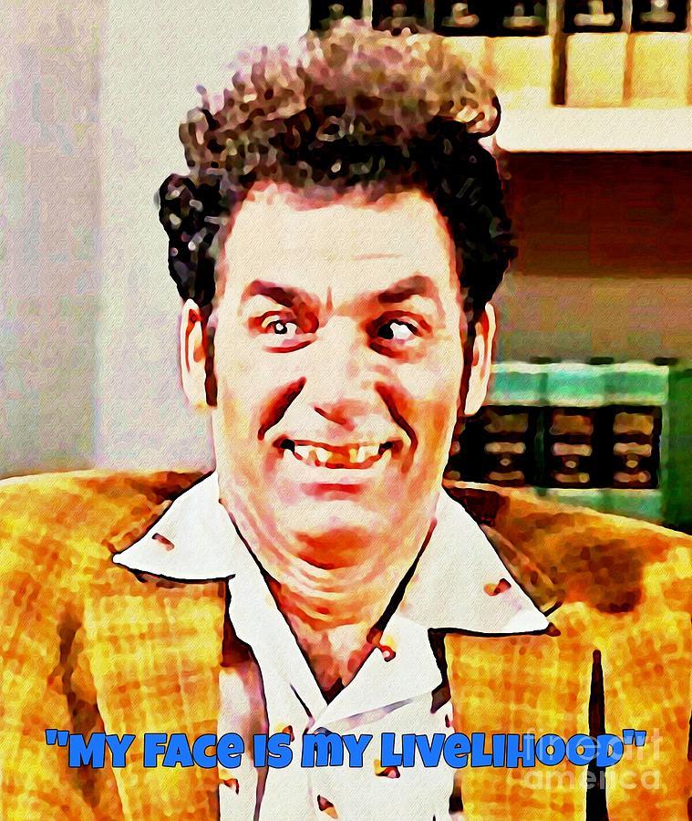 Kramer From Seinfeld Poster Painting - Kramer From Seinfeld Poster by ...