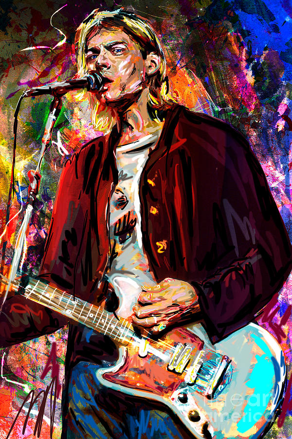 Kurt Cobain Art Mixed Media By Ryan Rock Artist