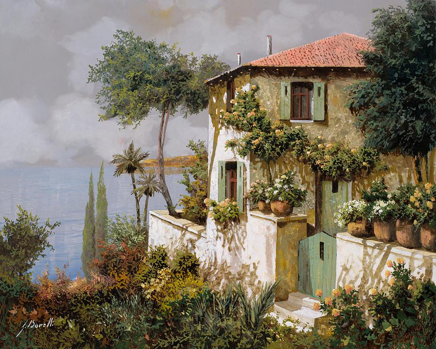 Llandscape Painting - La Casa Giallo-verde by Guido Borelli
