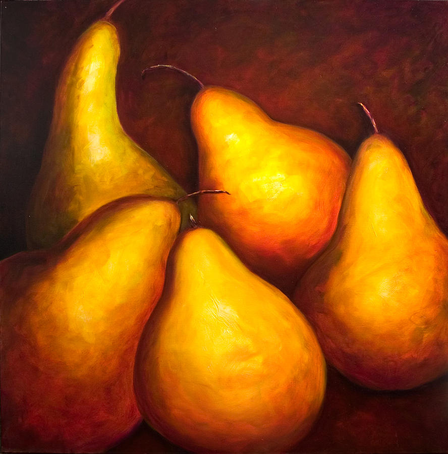Still Life Yellow Painting - La Familia by Shannon Grissom
