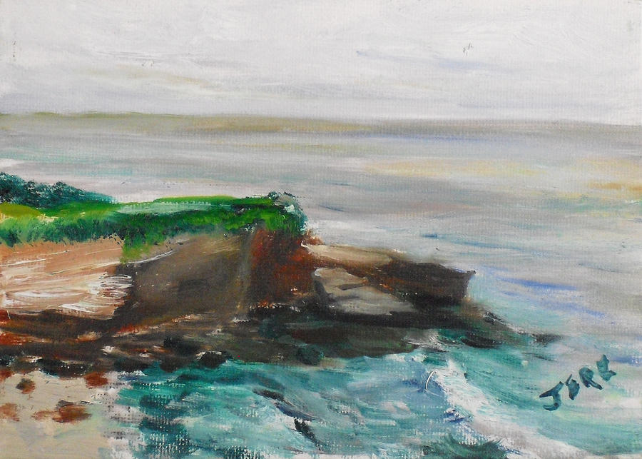 100 Paintings Painting - La Jolla Cove 069 by Jeremy McKay