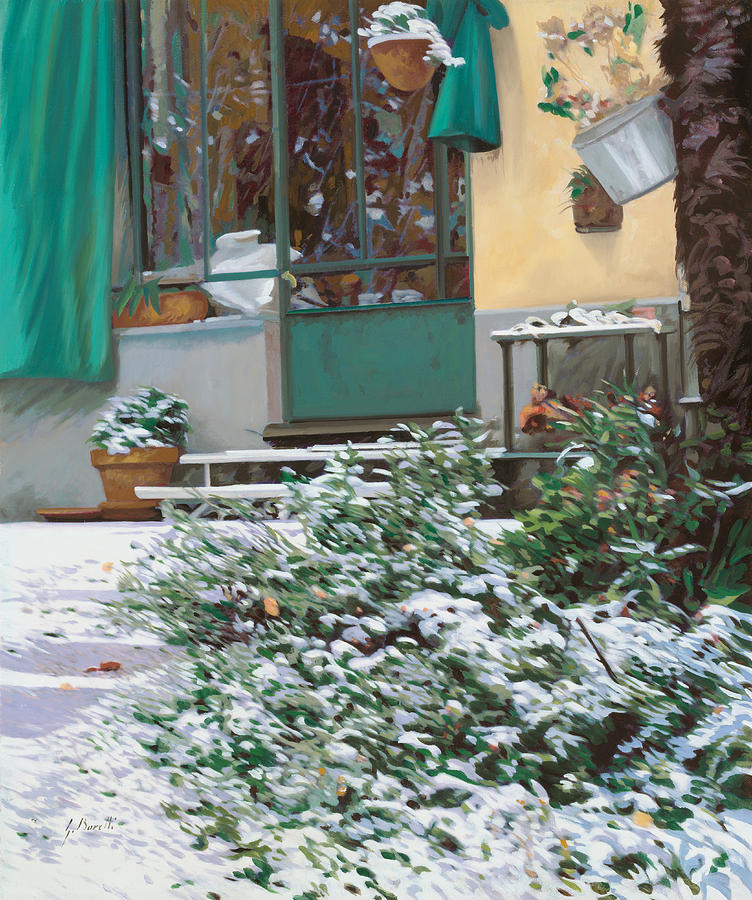 Snow Painting - La Neve A Casa by Guido Borelli
