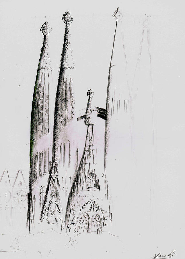 La Sagrada Familia Drawing