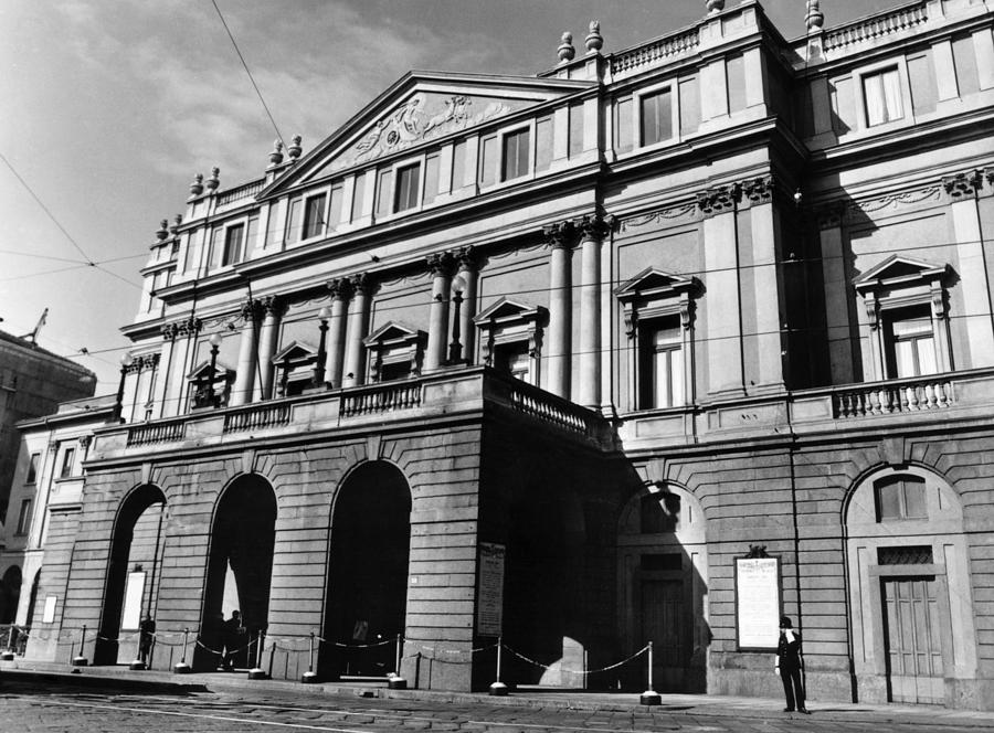 1960s Candids Photograph - La Scala, Opera House, In Milan, Italy by Everett