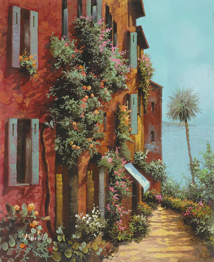 Lakescape Painting - La Strada Verso Il Lago by Guido Borelli