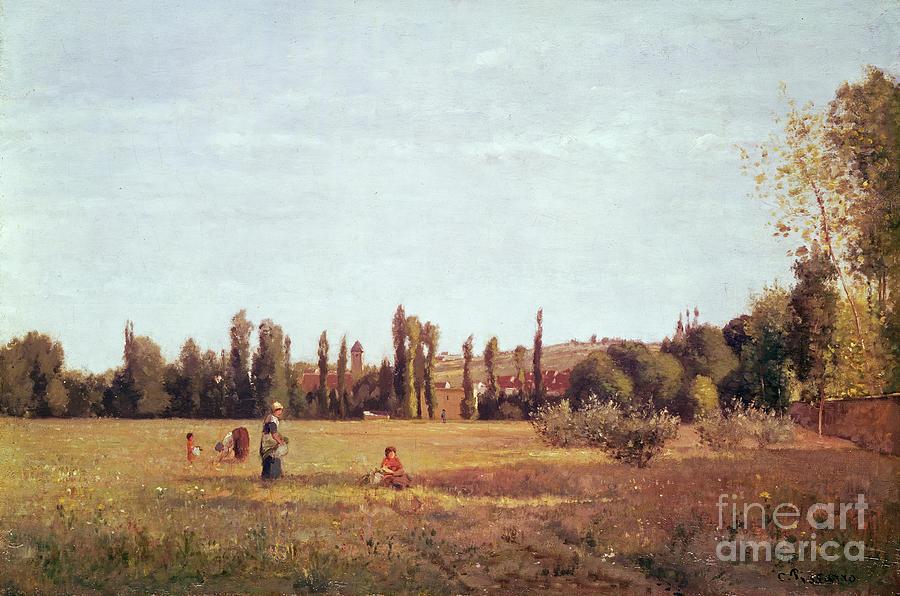 Camille Painting - La Varenne De St. Hilaire by Camille Pissarro