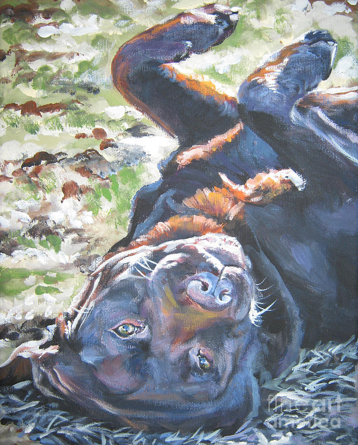 Dog Painting - Labrador Retriever Chocolate Fun by Lee Ann Shepard