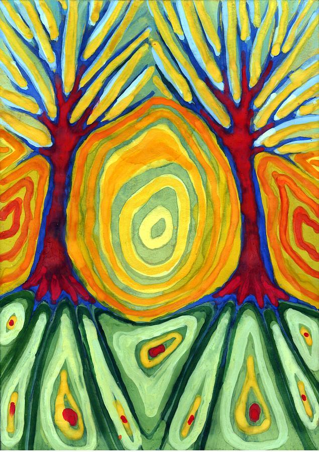 Colour Painting - Labyrinth by Wojtek Kowalski