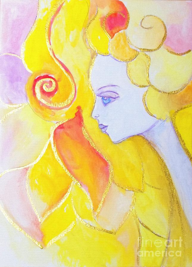 Lady Autumn Painting
