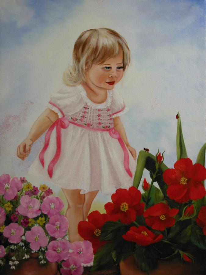 Child Painting - Lady Bug Lady Bug by Joni McPherson