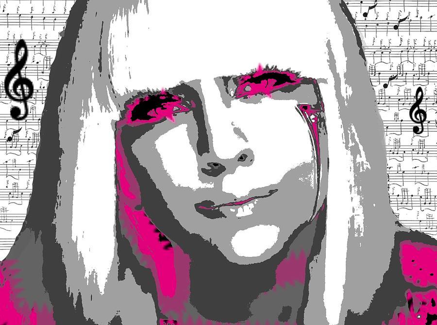 Lady Gaga Digital Art - Lady Gaga by Brad Scott