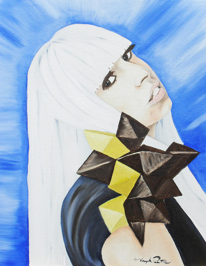 Lady Gaga Painting by Joseph Palotas