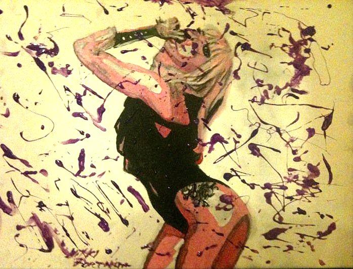 Acrylic Painting - Lady Gaga by Nikki Portanova