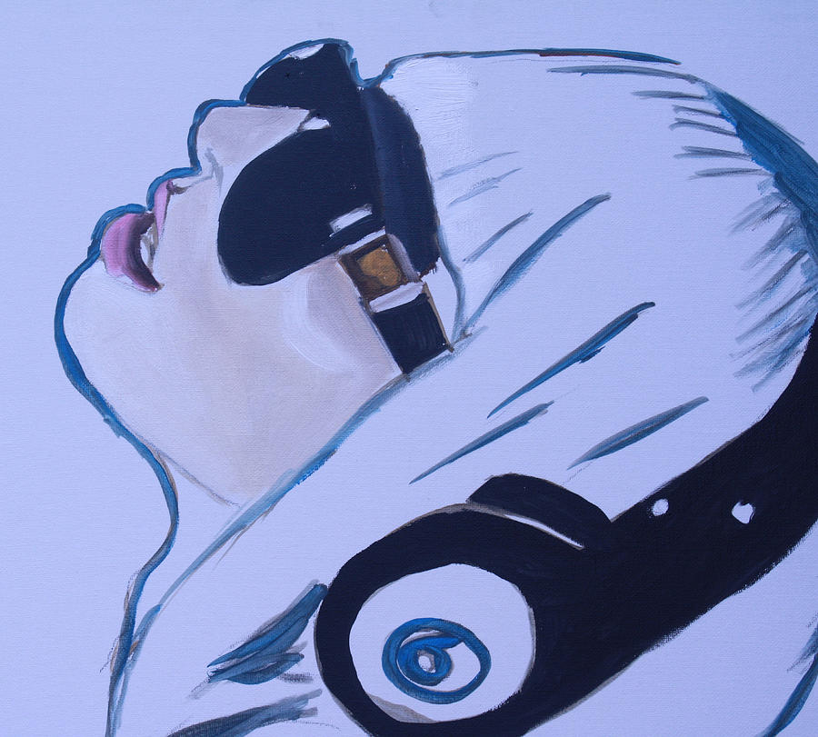 Ady Gaga Paintings For Sale Painting - Lady Gaga Speed Painting by Mikayla Ziegler