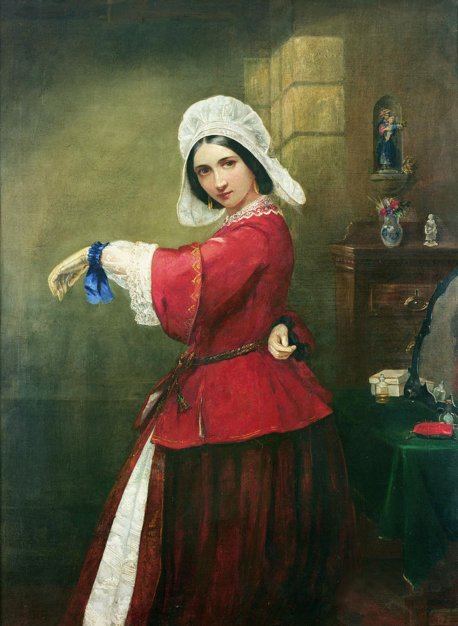 Lady Painting - Lady In French Costume by Edmund Harris Harden